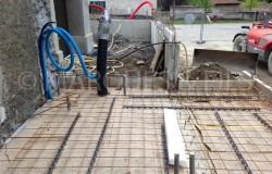Intégration réseau de chauffage et évacuation en dalle béton