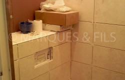 Réalisation d'un wc suspendu avec faience