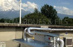 VMC double flux avec filtre à charbon actif